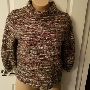 Vince Camuto  Gray  Pink boucle  Mock Neck sweater